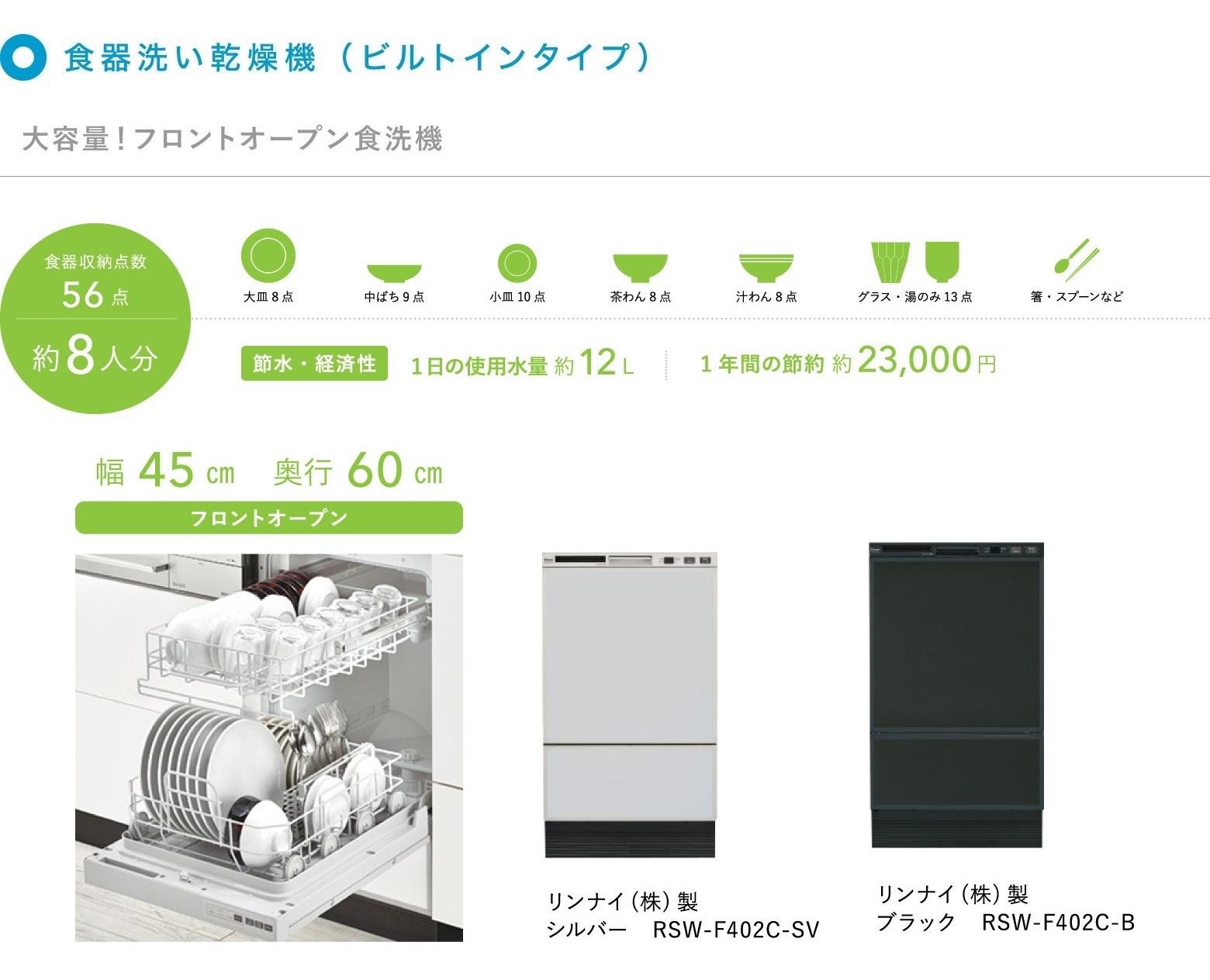 食器洗い乾燥機F402C紹介