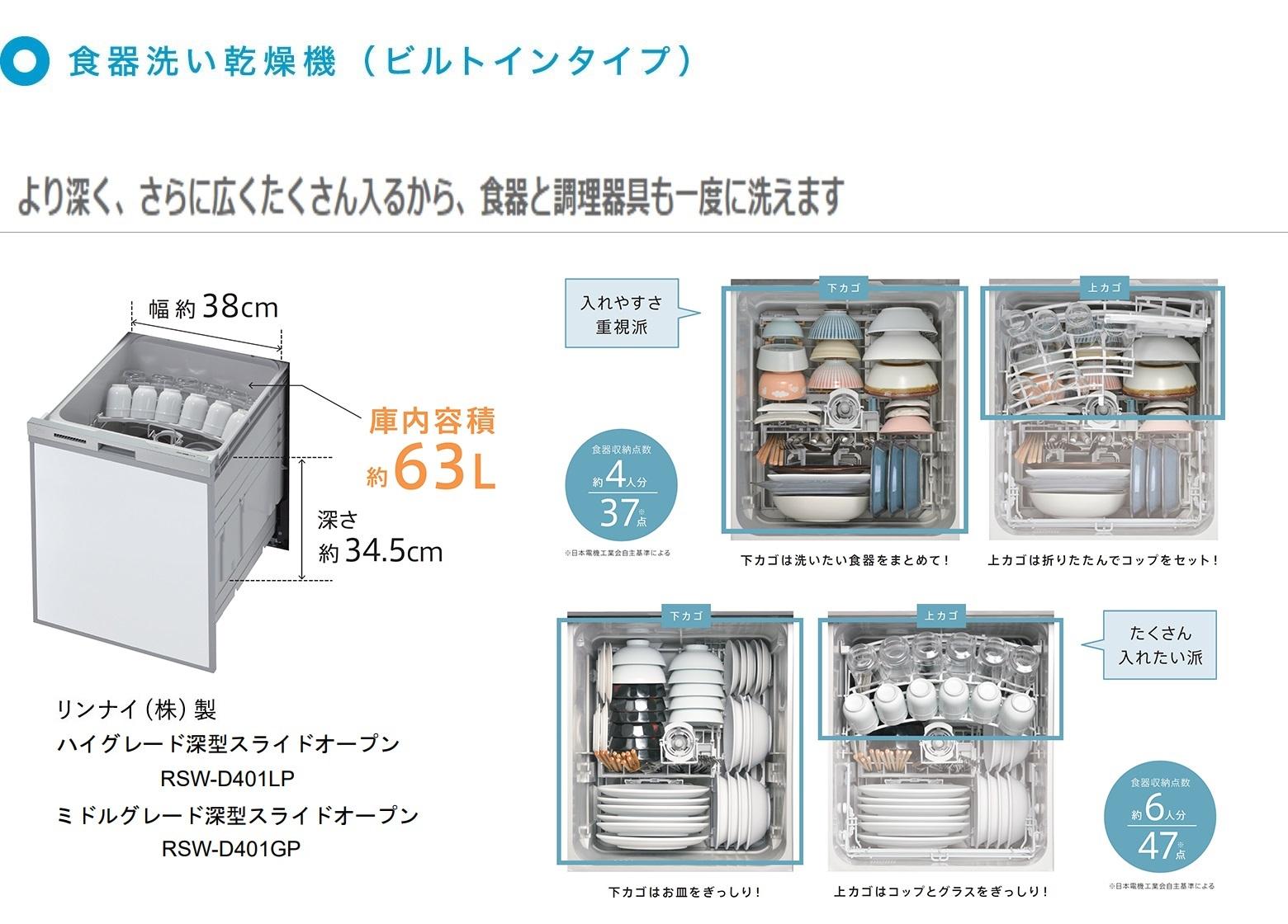 食器洗い乾燥機D401紹介